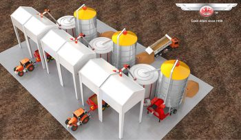 3 Dryers Plant + Cooling Silos
